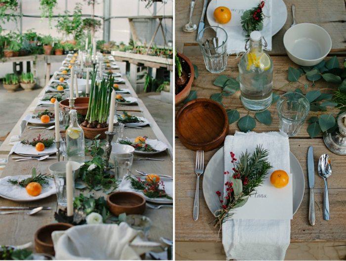 decoracion centro mesa clementinas ideas