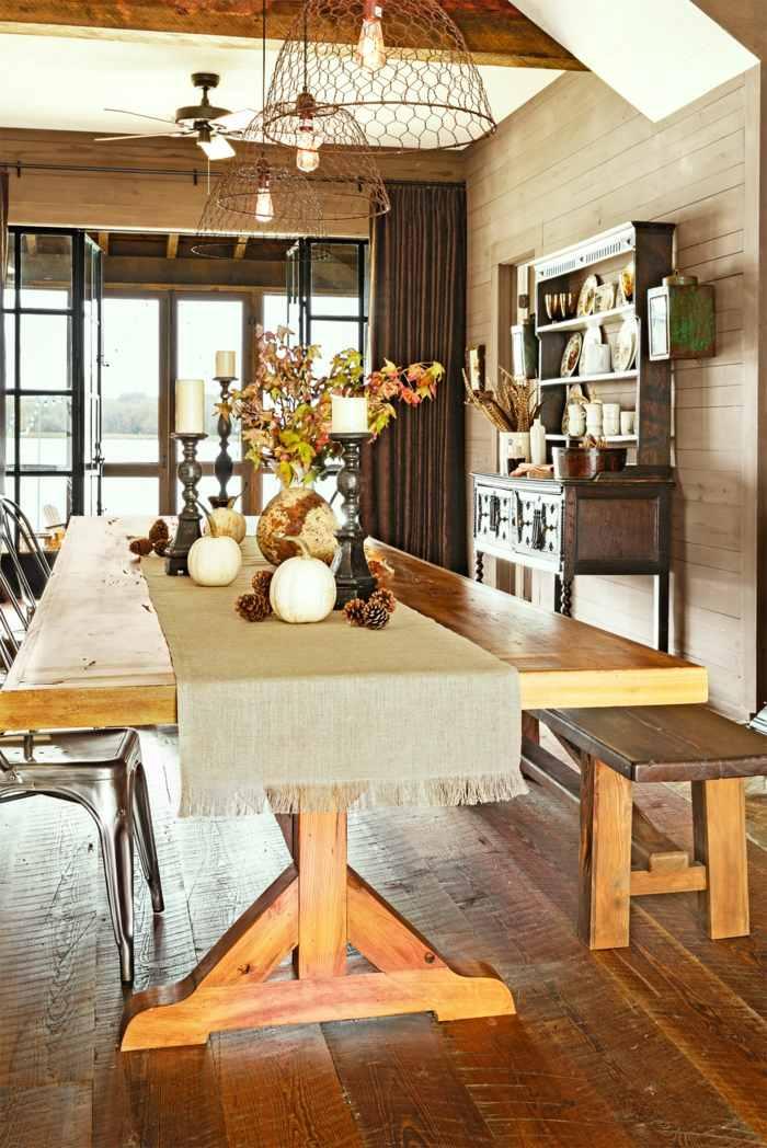 decoracion centro de mesa comida otono ideas