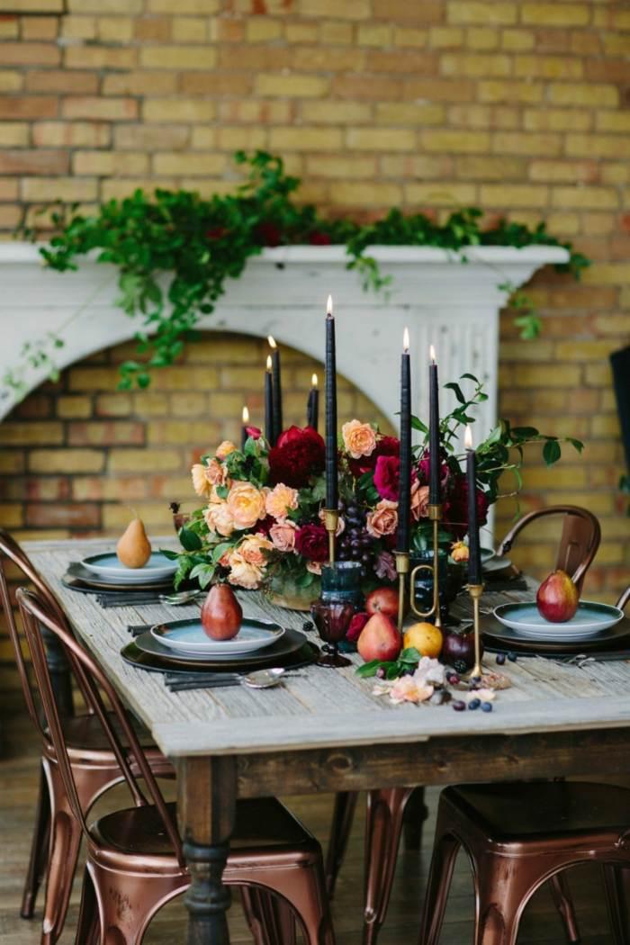 decoracion centro de mesa moderno rustico ideas