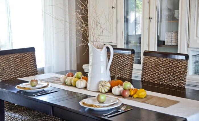 decoracion centro de mesa otono simple ideas