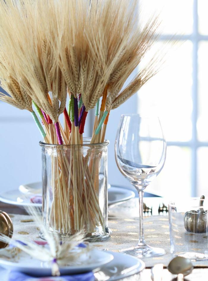 decoracion centro de mesa trigo ideas