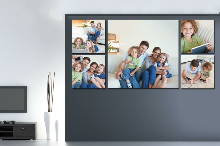 decoración con fotos casas