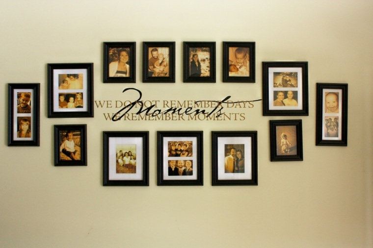 decoración con fotos familia