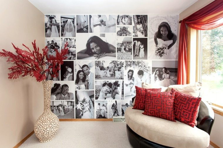 decoración con fotos pared