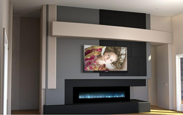 decoración con fotos salón