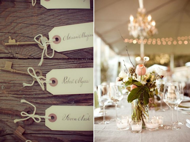 decoración de bodas vintage elegantes