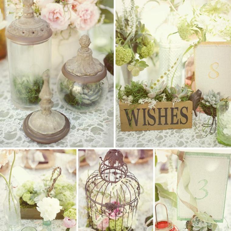 decoración de bodas vintage interior