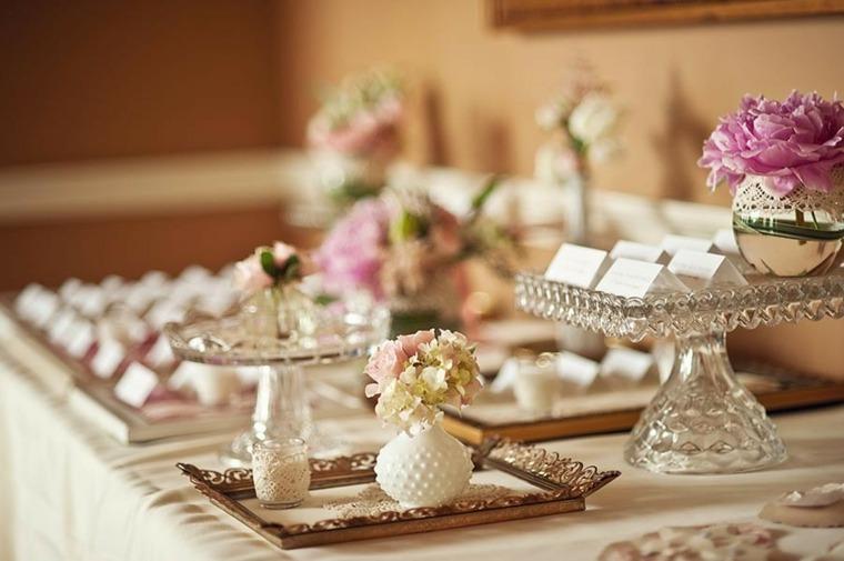 decoración de bodas vintage mesa