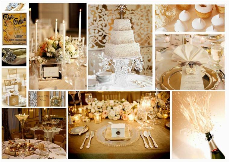 decoración de bodas vintage mesas elegantes