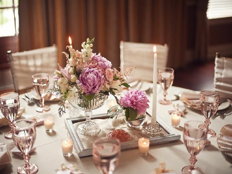 decoración de bodas vintage mesas redondas
