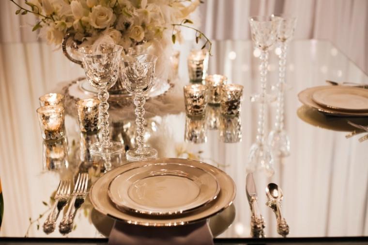 decoración de bodas vintage mesas