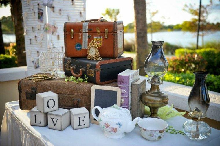 decoración de bodas vintage retro