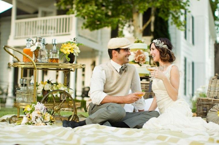 decoración de bodas vintage