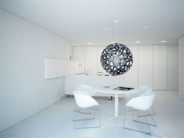 decoracion de interiores minimalista comedor disenado modom vizualizado ideas