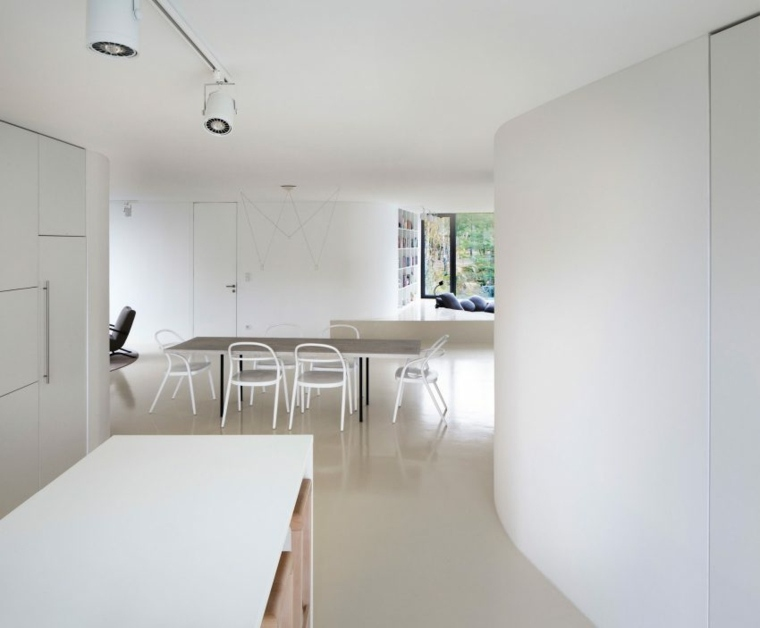 decoracion de interiores minimalista comedor disenado a69 architekti ideas
