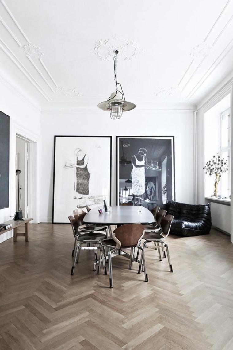 decoracion de interiores minimalista comedores cuadros ideas