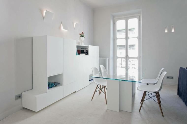 Decoraci n de interiores minimalista ideas de comedores for Comedores minimalistas de cristal