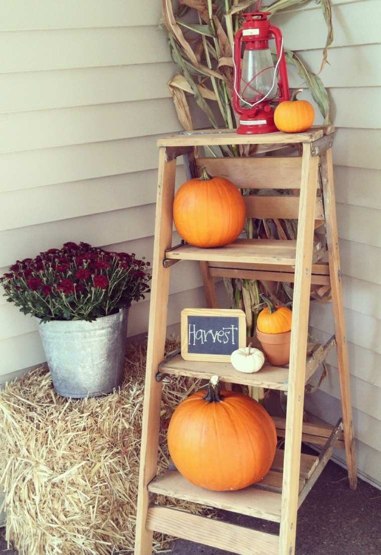 decoración de otoño exterior de casas