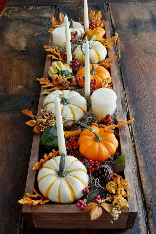 decoración de otoño interesante interior
