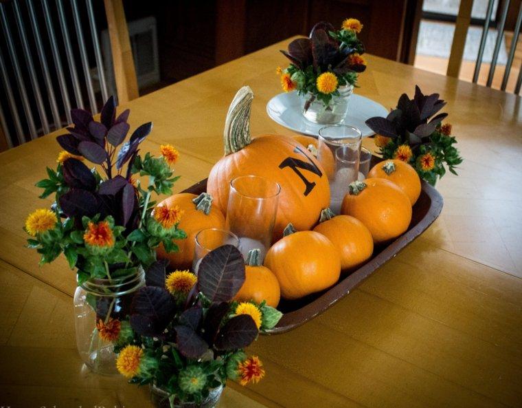 decoración de otoño interior