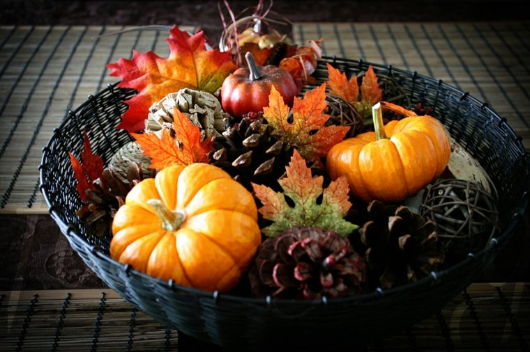 decoración de otoño mesa