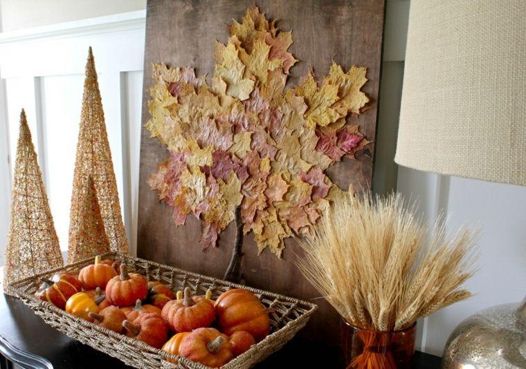 decoración de otoño original interior