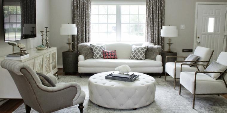 decoracion de salones clasicos blanco bonito ideas