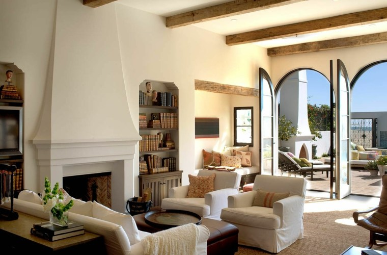 decoracion de salones clasicos muebles blancos ideas