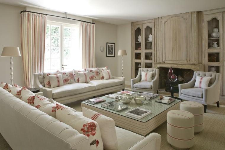 decoracion de salones clasicos muebles empotrados madera ideas