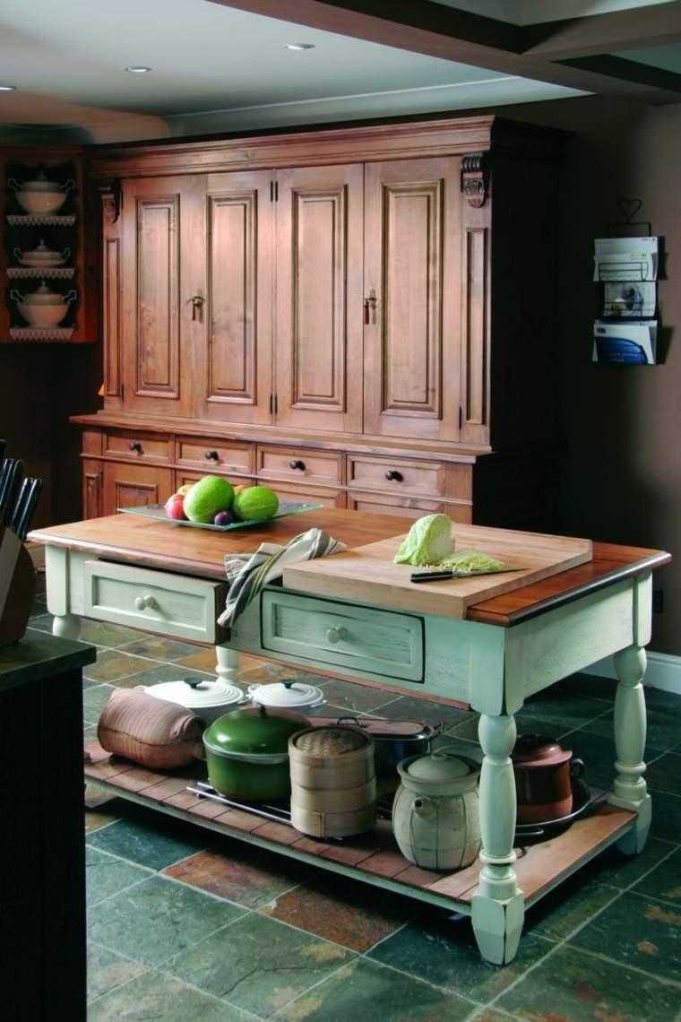 decoracion diseno cocina armario verde ideas