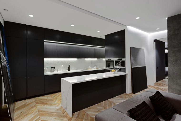 decoracion diseno cocinas blanco negro ideas