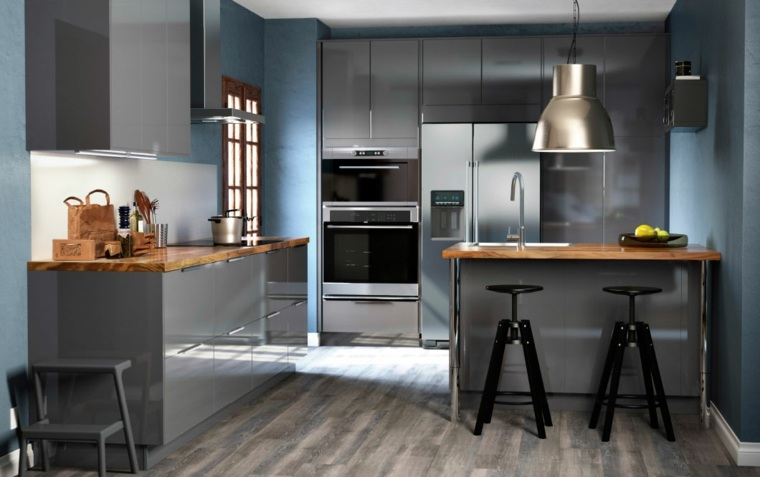 decoracion diseno cocinas muebles brillantes ideas