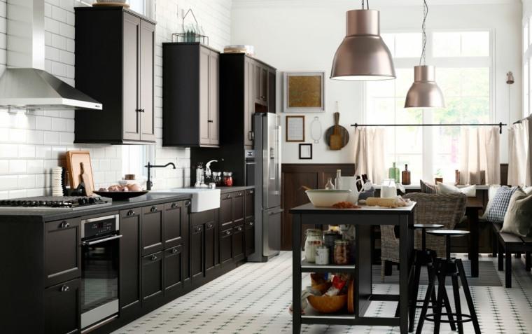 decoracion diseno cocinas muebles madera ideas