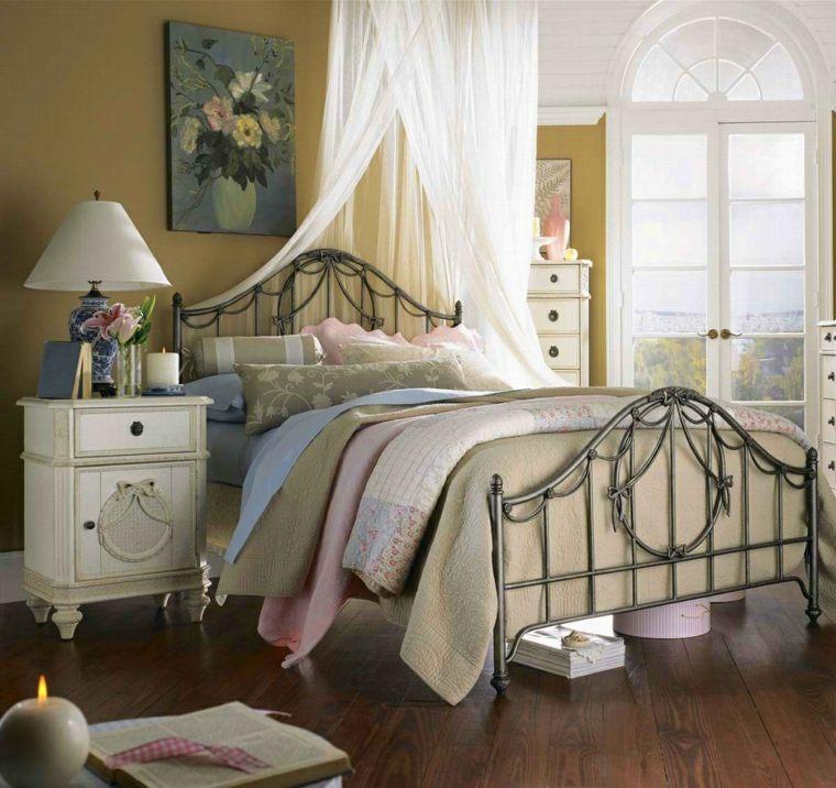 Decoración estilo shabby chic para un dormitorio romántico