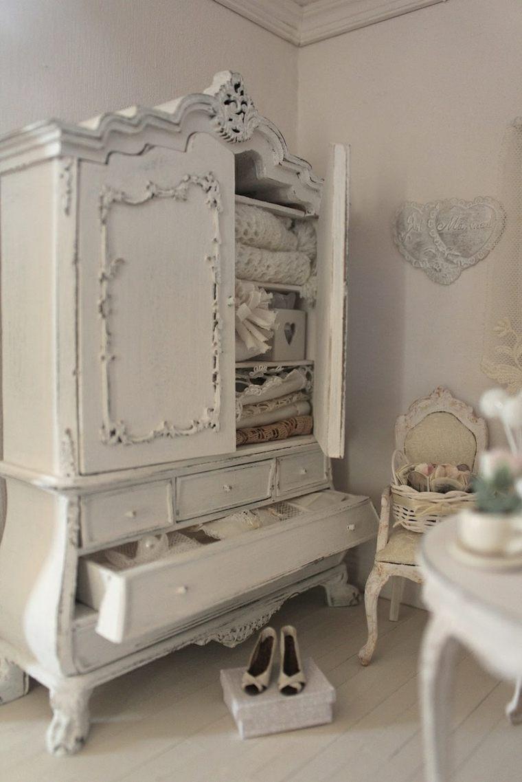 decoracion estilo shabby chic dormitorio armario blanco ideas