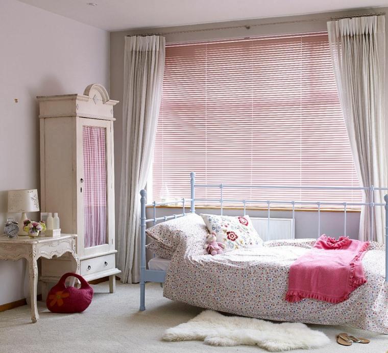decoracion estilo shabby chic dormitorio armario rosa ideas