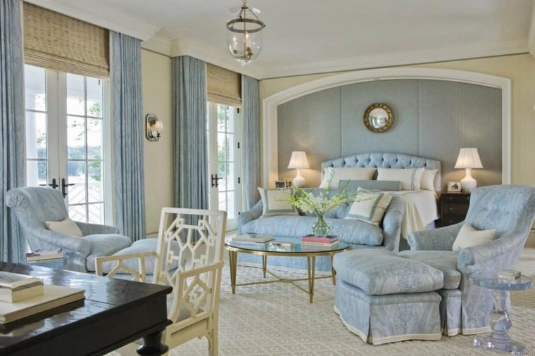 decoracion estilo shabby chic dormitorio azul claro ideas