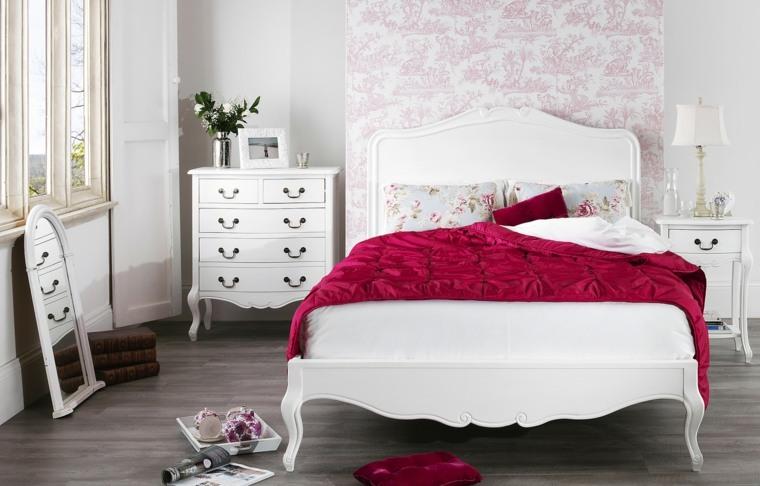 decoracion estilo shabby chic dormitorio cama blanca ideas