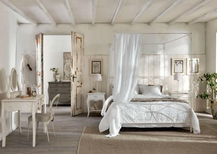decoracion estilo shabby chic dormitorio cama dosel ideas