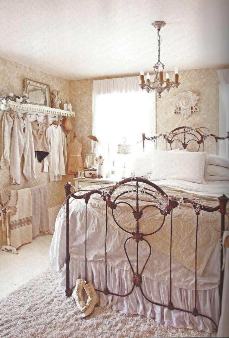 decoracion estilo shabby chic dormitorio colores claros ideas