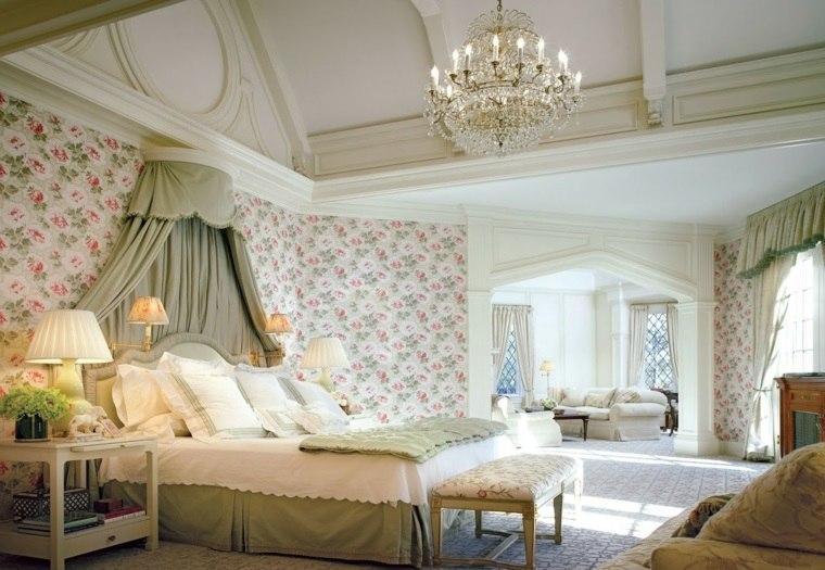 decoracion estilo shabby chic dormitorio colorido ideas
