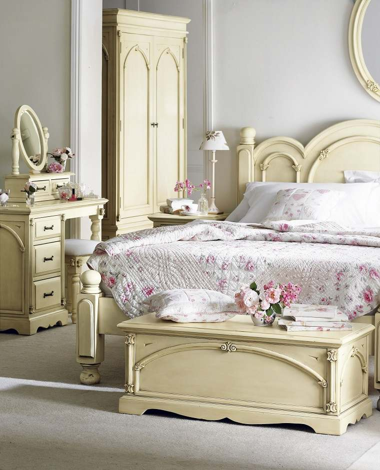 decoracion estilo shabby chic dormitorio muebles bonitos ideas