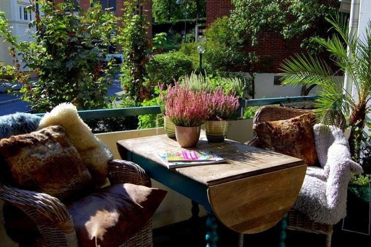 decoracion facil balcon otono invierno ideas