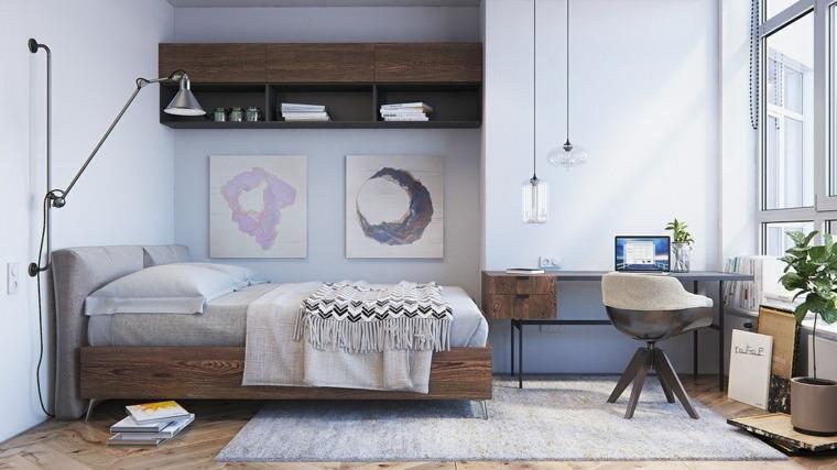decoracion habitaciones estilos naturales cuadros
