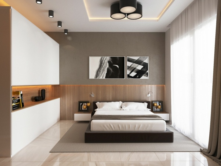 decoracion habitaciones grises estilos cuadros