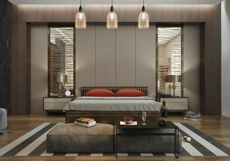 decoracion habitaciones marrones alfombras calidos