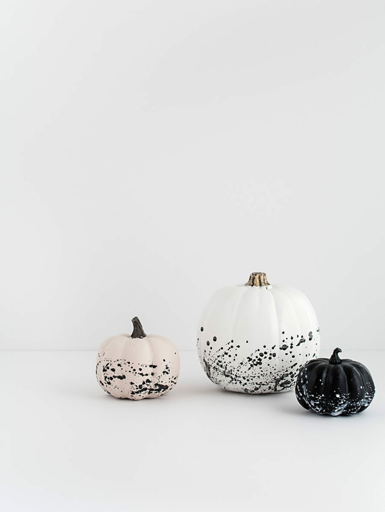 decoracion halloween moderna calabazas pintadas ideas
