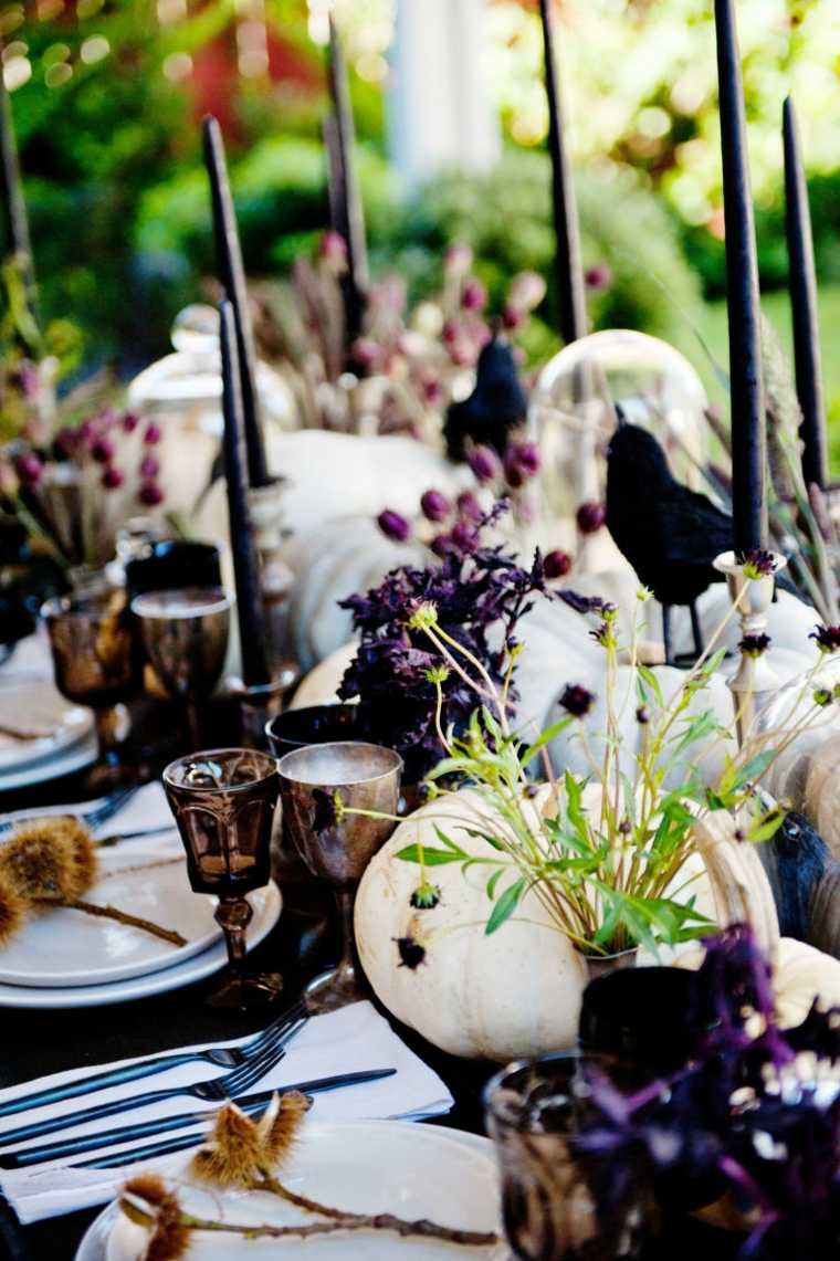 decoracion halloween moderna cena aire libre ideas