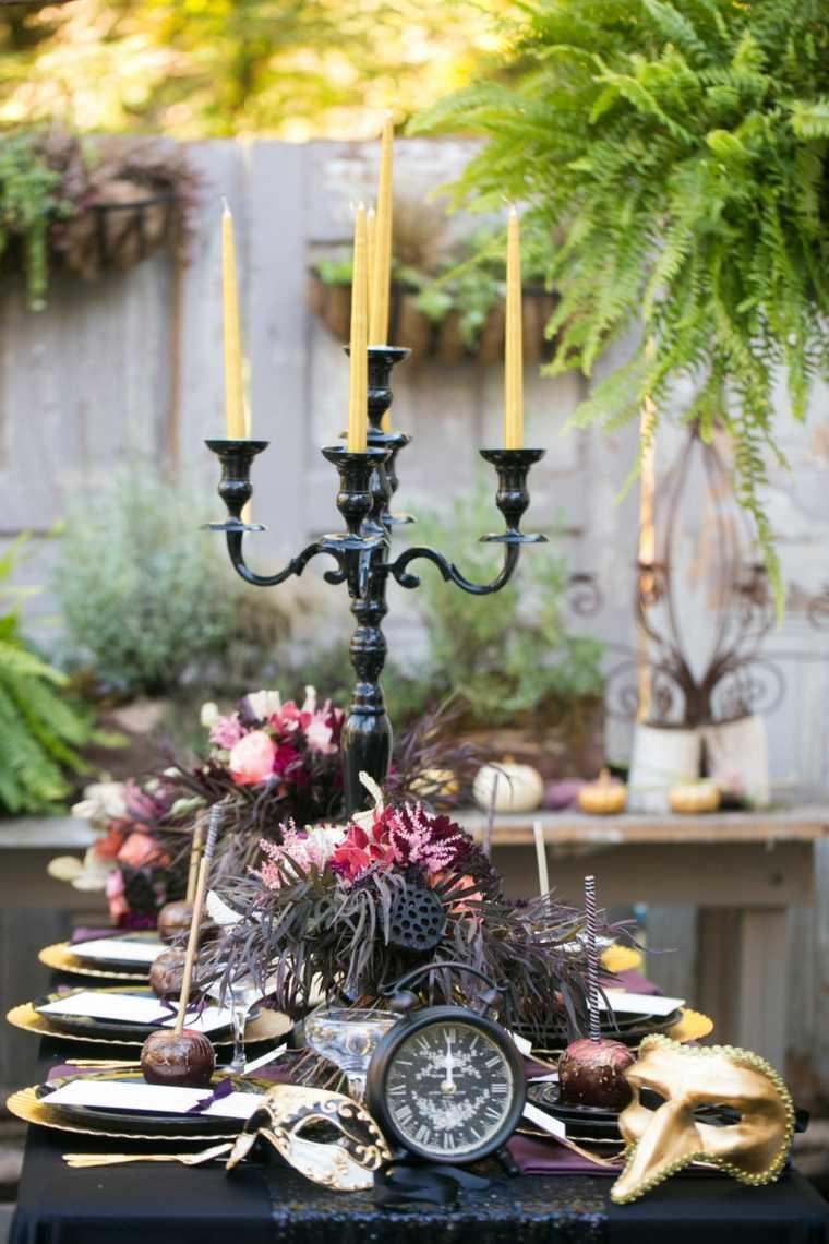 decoracion halloween moderna mesa comida centro mesa ideas