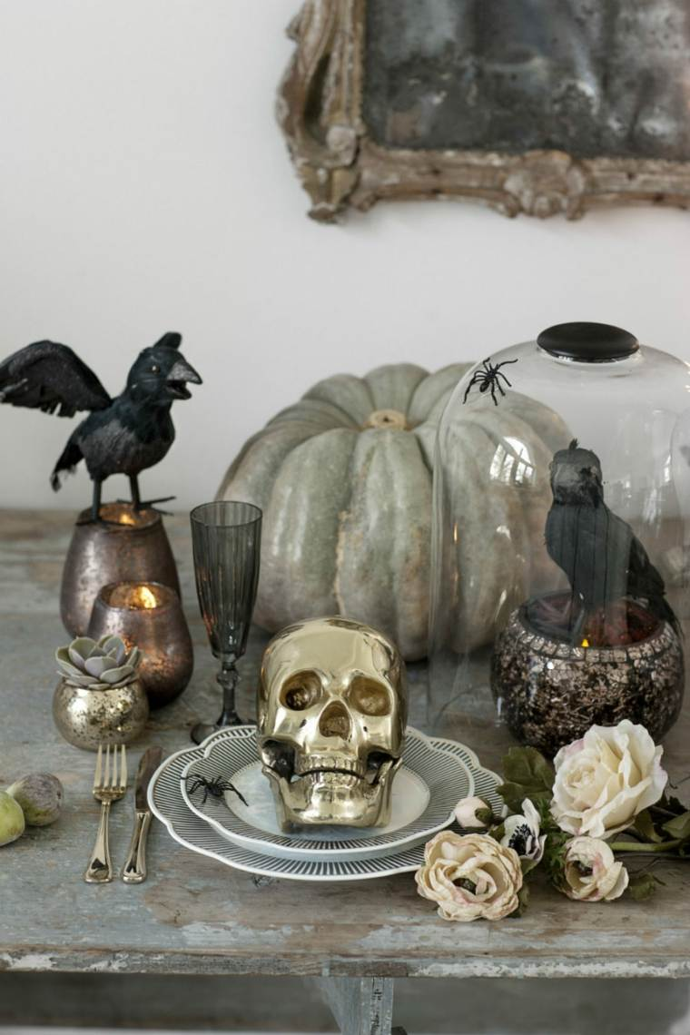 decoracion halloween moderna mesa comida ideas